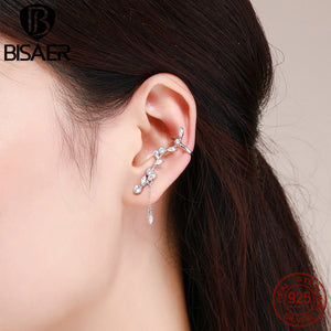 BISAER 925 Sterling Silver Stud Earrings ECE429