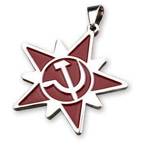Red Alert Soviet Army Necklace Pendant Titanium Steel Chain