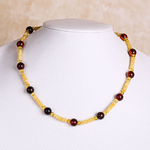 Baltic Sea Amber Loose Beads Round Blood Cooper Chain Necklace Jewellery Lanyard Prime Chain identification design factory direc