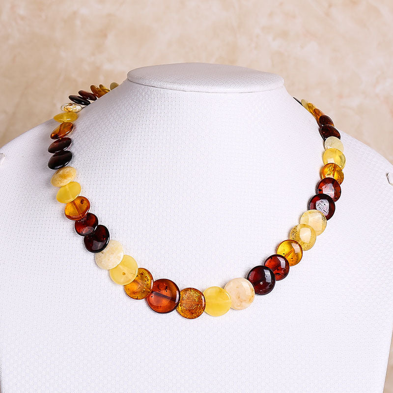 Baltic Sea natural amber beeswax blood more treasure necklace send certificate