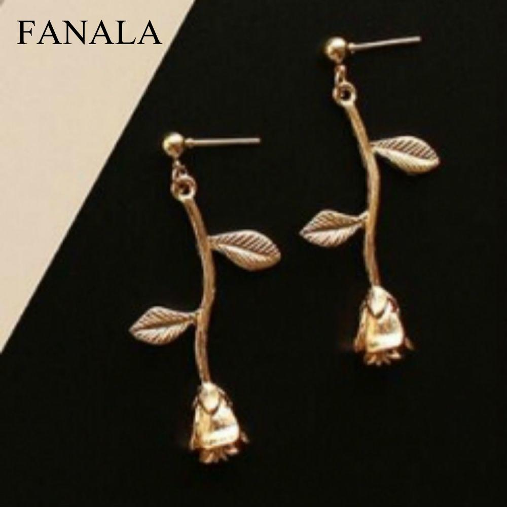 Bohemia Dangle Drop Earrings Flowers 2017 Femme Boucle D'oreille Brincos Metal Oorbellen Geometric Earrings Leaves Long