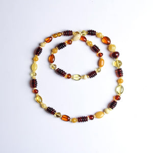 Brand pure natural Baltic amber beeswax multi-treasure with the necklace exquisite chic authentic luxury nine more jewelry