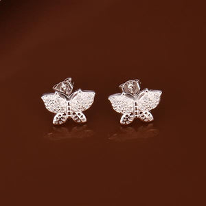 Butterfly Charming earrings 925 Silver Fashion Trendy Nice Summer Wearing Jewelry Brand New e369