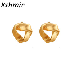 Environmental protection decoration value simplicity temperament joker ms alloy stud earrings Fashion girl stud earrings