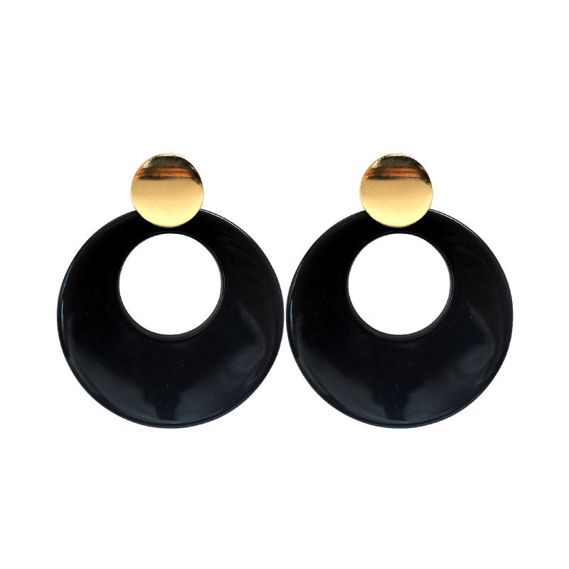 Exaggerated personality geometric acetic acid tide models wild new stud earrings