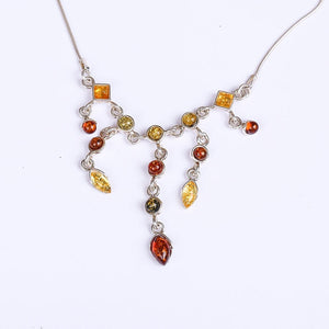 Exclusive design antique old beeswax amber auspicious necklace 925 sterling silver necklace pendants more treasure color