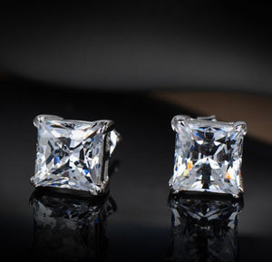 Fashion accessories exquisite eight heart eight arrow square Zircon Earrings