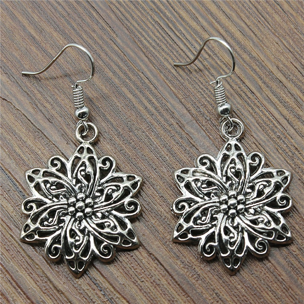 Flower Drop Earrings Fashion Flower Dangle Earrings Flower Earrings Female 2018 Fashion Drops Jewelry