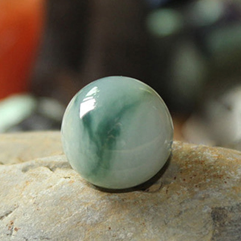 Fine jewelry 10001 Natural Jade beads Good for hleath and will get good luck