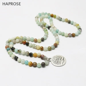 Necklaces Pendant Natural 108 beads bracelet Mala Amazon bracelets Women Long Jewelry stone jewelry necklace gifts