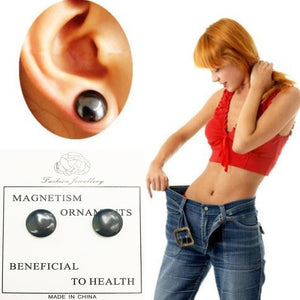 Healthy Stimulating Acupoints Stud Earring Bio Magnetic Ther Weight Loss Earrings Magnet in Ear Slimming 2018new