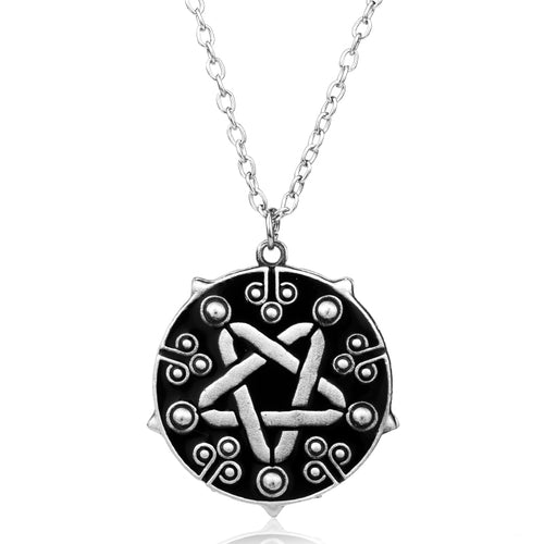 Hot Game Jewelry Witcher 3 Yennefer Medallion Choker Pendant Necklace the Wild Hunt Game Cospl Silver Jewelry Men Gift