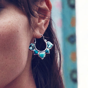 Jewelry Wholesale/ Blue Turkish Earring Fashion Jewelry Christmas Earring Statement