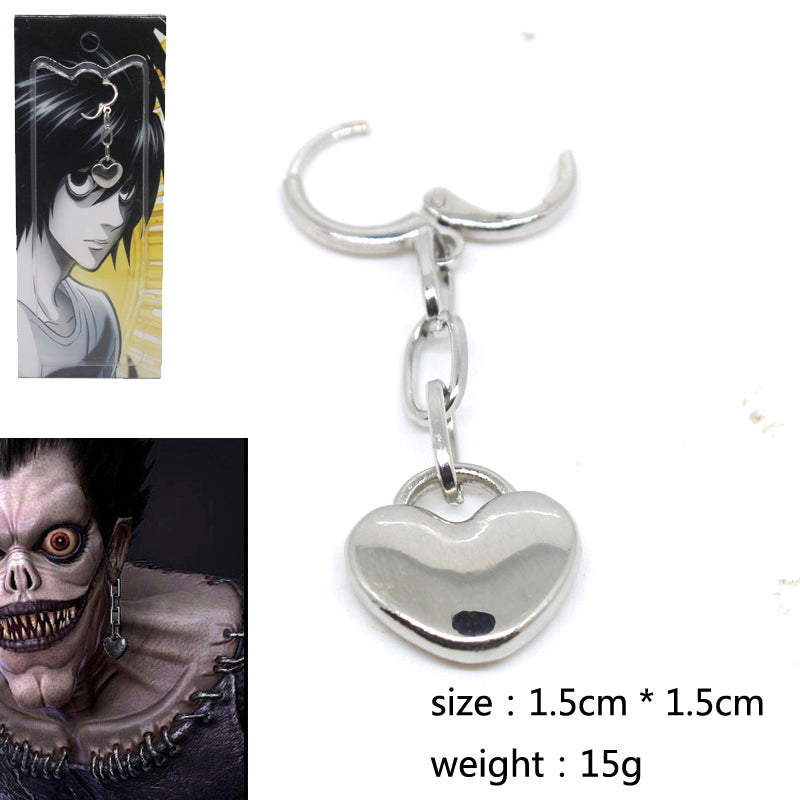 Japan Anime Death Note Ryuk Earrings Cospl 1:1 Prop Accessories Non-Mainstream Earring Jewelry Fans Collection Otaku Gift 1pcs