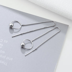 LSC2 women fine jewelry,simple round circle earring ,925 sterling silver earring as anniversary gift to beloved women