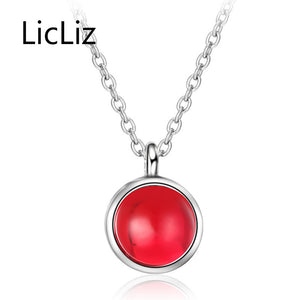 925 Sterling Silver Pendant Necklaces for Women Agate Pendant Necklace Collier Fashion Jewelry Voor Vrouwen 2018 LN0358
