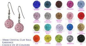 Lowest Price!10mm Cl Mixed 20 Color MOW Crystal Micro Pave Disco Ball Silver Plated crystal Earrings drop Stud jewelry