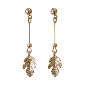 MTCHONG Gold Long Drop Earrings Leaf Tassel Dangle Earrings For Women Drop Brincos Jewelry Earring 573