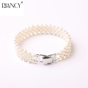 Natural Exquisite pearl bracelet women jewelry,white pearl charms bracelet 925 silver jewelry wedding gift