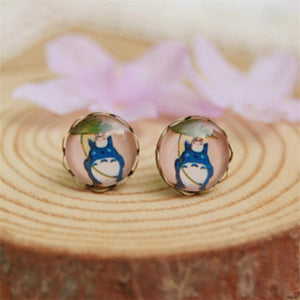 New Arrival Fashion Popular Personality Creative Simple Hayao Miyazaki Totoro Stud Earrings Prevent Allergy Female Gift E042