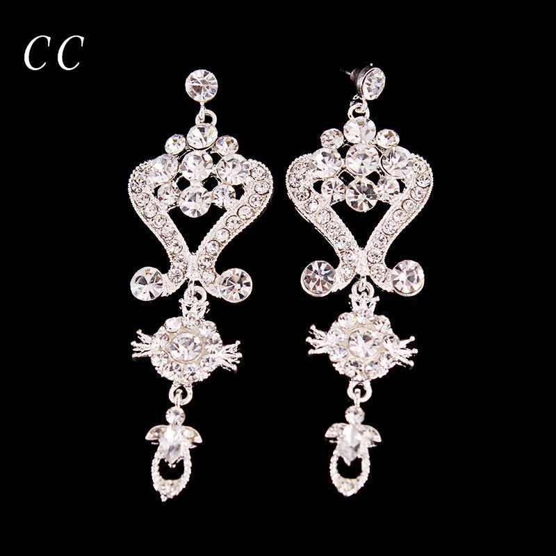 New Brand Fashion Bijoux Jewelry Figure Shape Design Stud Earring for Women Top Crystal Wedding Party Bridal Bijoux Femme B005