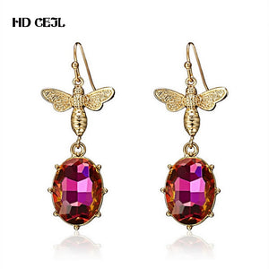 New European and American Fashion Creative Bee Earrings Trend Personality Simple Sweet Romantic Fine Women Accessories