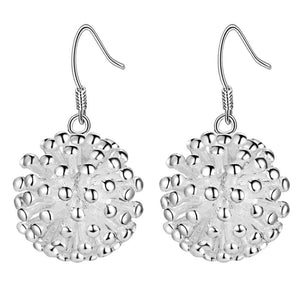 New retro E114 high quality silver plated jewelry trend cute women simple earrings classic style