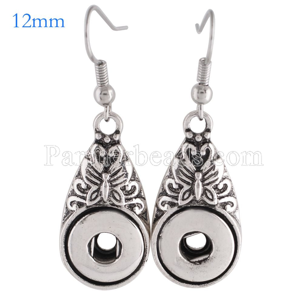 New simple 12mm drop earring women fashion snap jewelry engagement earrings gift silver plated earring drop shipping KS0991S