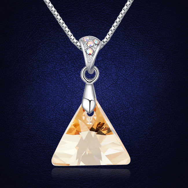Newest Arrival Luxury Triangle Pendant Necklace Crystals From Swarovski Bohemian Necklace Pendants Gift For Friends