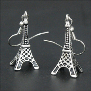Newest Design France Tower Earrings 316L Stainless Steel Punk Style Co Design Earrings