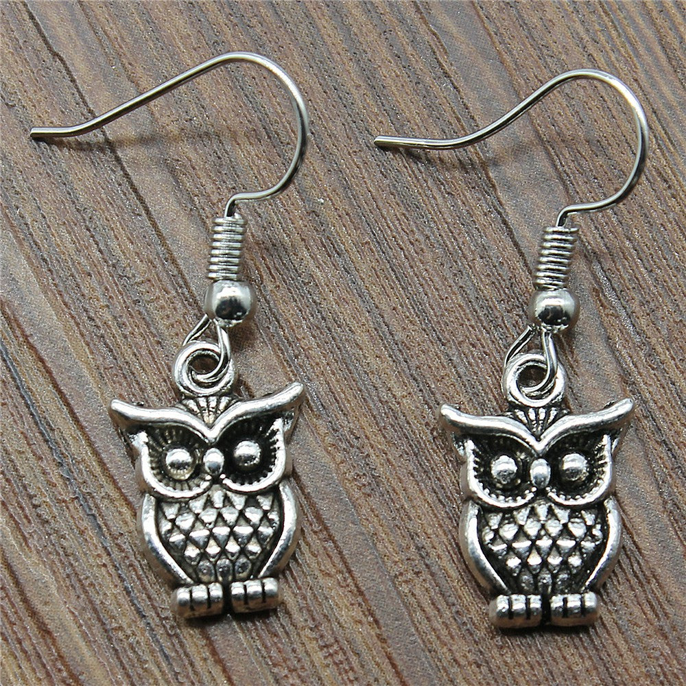Owl Drop Earrings Fashion Owl Dangle Earrings Cute Owl Earrings Female 2018 Fashion Drops Jewelry