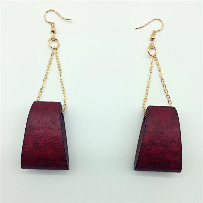 Pair good quality Latest new arrival handmade wood earrings