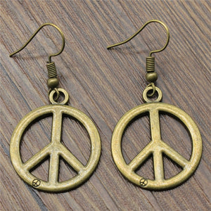 Peace Symb Drop Earrings Fashion Peace Symb Dangle Earrings Peace Symb Earrings For Women Dropshipping