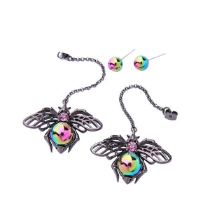 Personalized Acrylic Spider Insect Long Earrings Women Punk Vintage Drop Earrings Fashion Jewelry