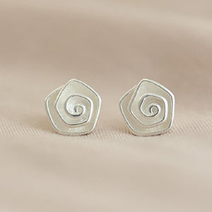 Small Rose Flower Earrings For Women Multilayer Floral Summer Wedding Jewelry Silver Pure Elegant Stud Earrings Girls