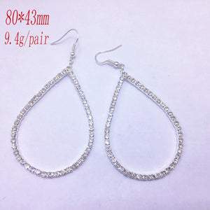 Rhinestone Shining Drop Shaped Earrings Fashion Charm Woman Earrings Accessories 171124-10
