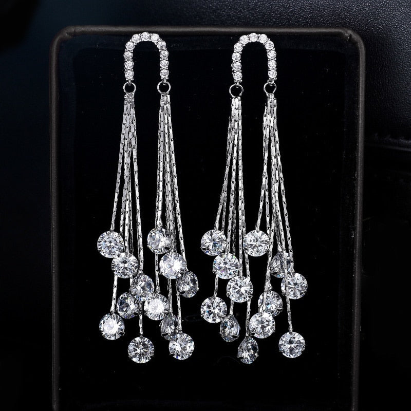 S925 Sterling Silver Stud Earrings Embellishment Zircon Charm Women Party Fitting Exquisite Craft Jewelry Packaging