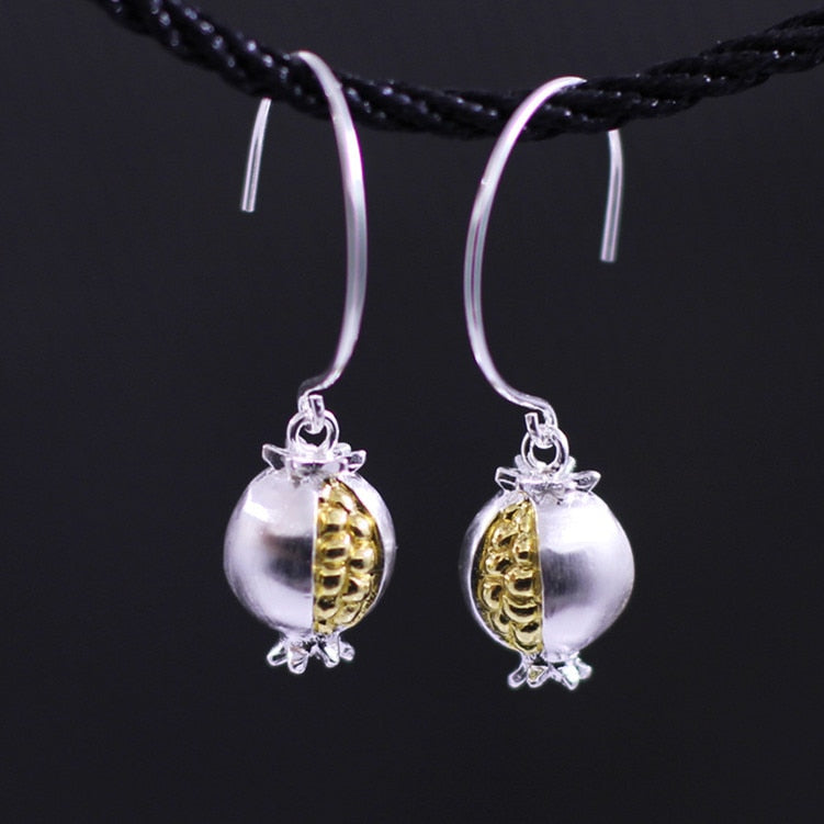 S925 silver goods Chiang Mai handmade lanterns new earrings