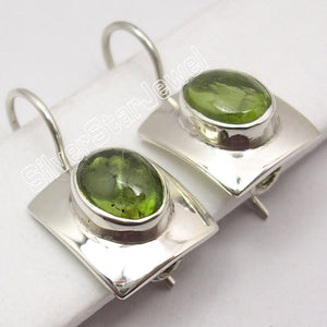 Silver PERIDOT EXCLUSIVE NEW Dangle Earrings 2.5CM
