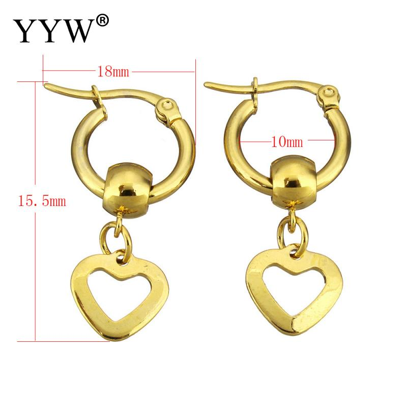 Simple Earrings Dangle Earring Gold color Earrings Stainless Steel Drop Earrings For Women Jewelry Brinco