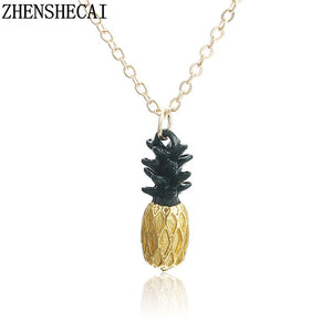 Small pineapple torque fruit cute charm necklace pendant long chain summer fashion jewelry gift for women accessories x181