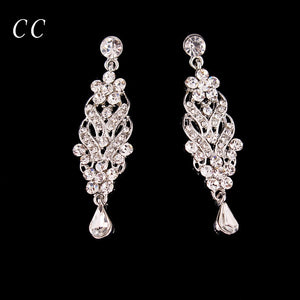 Teardrop Top Austrian Crystal Stud Earrings for Women Wedding Party Engagement Fashion Jewelry For brides Bijoux Femme Gift B001