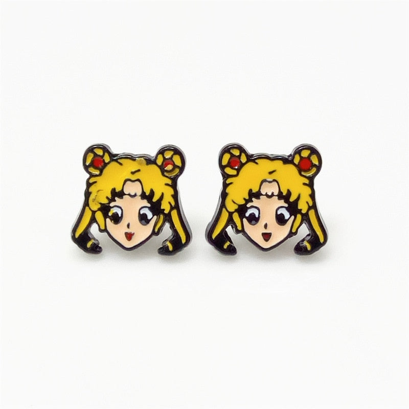 The classic Japanese animated film sailor moon fashion earring stud earrings earrings female in the new