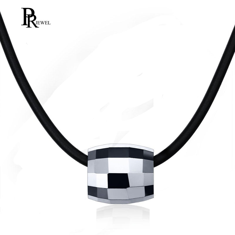 Trendy Tungsten Steel Bead Men Pendant Necklace