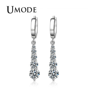 2018 New Fashion CZ Zirconia Drop Earring for Women Huggie Earring Jewelry Boucle D'oreille Pendientes Mujer Moda AUE0420