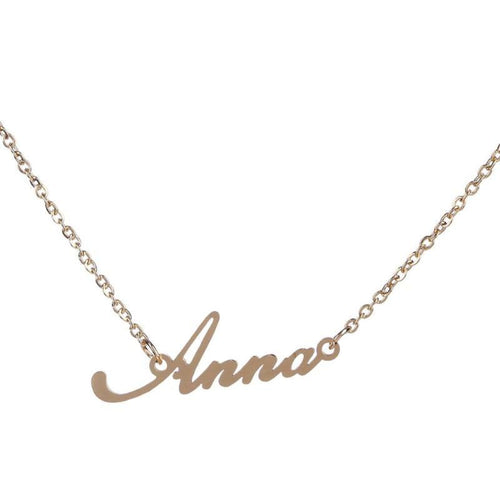 Unisex Name Necklace Titanium Steel Personalized Necklaces For Gift Pendant Choker Name Collar Chain Nameplate Pendant Necklace