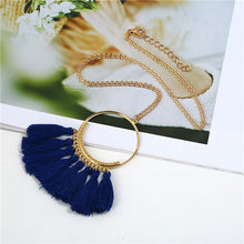 Load image into Gallery viewer, Vintage 15 color Tassel necklaces Ethnic Long chain Sweater chain necklaces for women Long tassel necklace