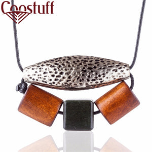 Vintage Jewelry Wood Beads Women statement necklaces & pendants collares mujer choker kolye bijoux colar collier collar collares