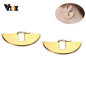 New Unique Geometric Earrings for Women Gold Tone Stainless Steel Fan-shaped Drop Earring Girl Party Gifts brinco