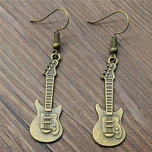 Fashion Handmade Design Guitar Charm Drop Earrings, Fashion Earring Jewelry Gift For Women Wholesale Dropship